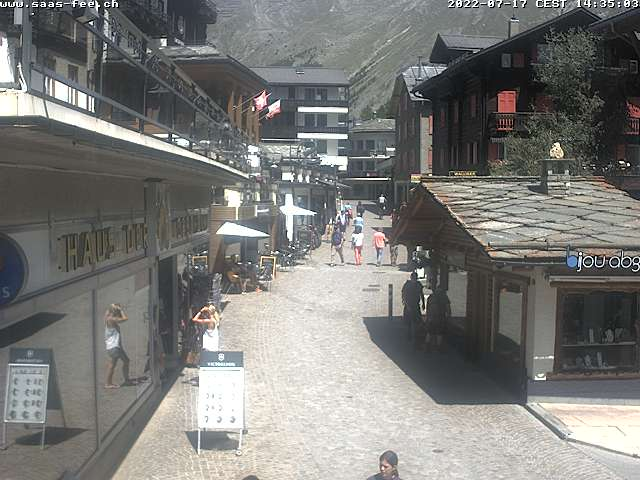 Webcam Saas-Fee Dorf